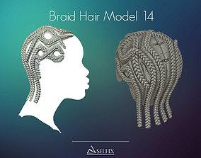 3D printable model Braid Hairstyle 14
