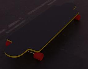 3D model realtime skate board