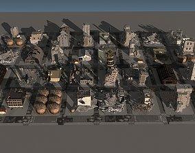 3D model Damaged city 2020 2