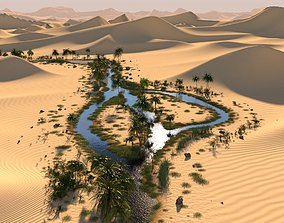 3D The long oasis in Blender