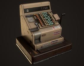 3D model VR / AR ready PBR Old Cash Register