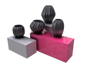 3D Black Modern Decor Vase COLLECTION