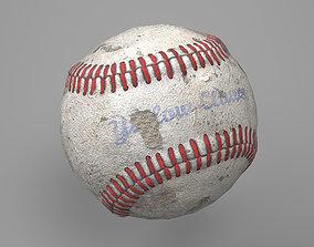 Game Ready Worn Baseball Ball 3D asset