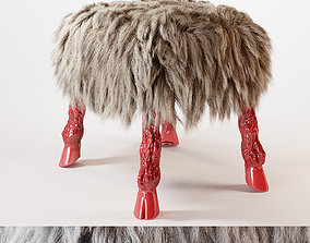Tabouret in the style of Marc Bankowsky fur 3D model