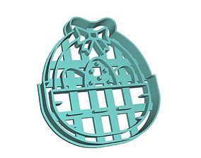 3D printable model Easter Egg Bascket Cookie Cutter