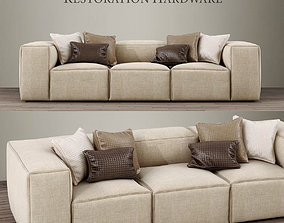 FULHAM UPHOLSTERED LEFT-ARM SOFA CHAISE SECTIONAL 3D model
