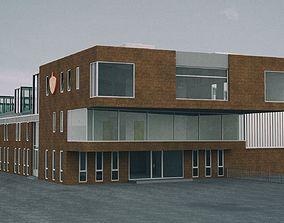 Fire Station Building 3D asset