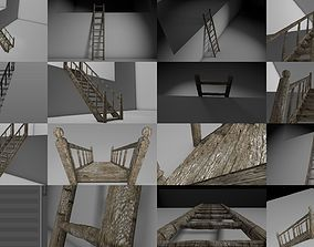 Old Ladder and Old staircase 3D
