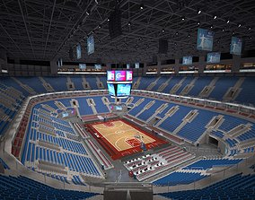 Basketball arena - interior - low poly 3D model