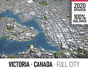 Victoria - city and surroundings 3D asset