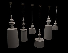 Chandelier 3D model game-ready