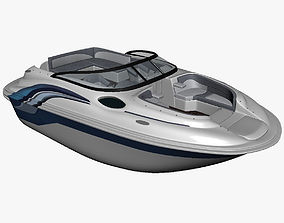 3D PBR Motor Boat