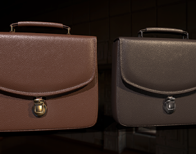 Leather briefcase 2 colors 3D asset