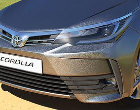 3D asset Toyota Corolla 2017