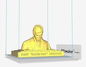 Tony Montana Scarface sculpture 3D printable model