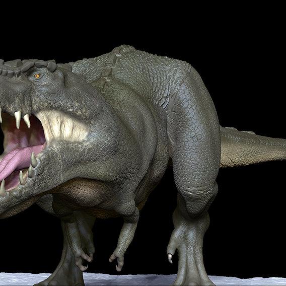 Realistic Dinosaur T-Rex Tyrannosaurus Rex 3D Print Ready