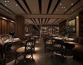 3D Business Restaurant - Coffee - Banquet 206