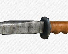 Low-poly knife 3D asset