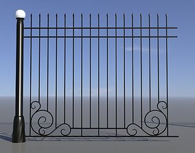 3D asset Fence 04