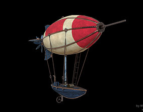 3D model realtime PBR Airship