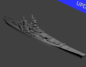 3D print model US Iowa Class Battleship