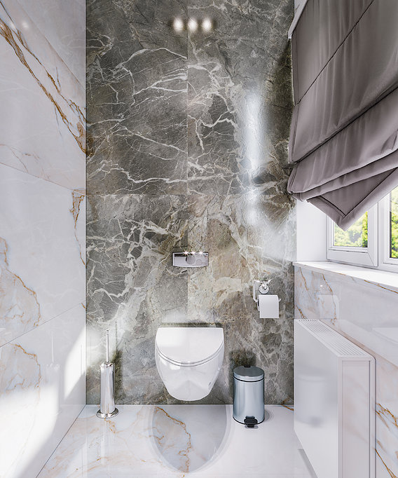 Luxury Bathroom for an apartment in Budapest by 3DAG