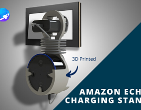 Amazon Echo Dot wall mount 3D printable model charging
