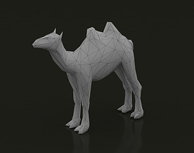 Camel Low Poly 3D model