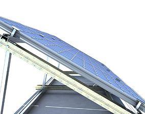 3D model Solar Panels 3 Types