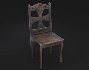 3D asset Gothic Chair