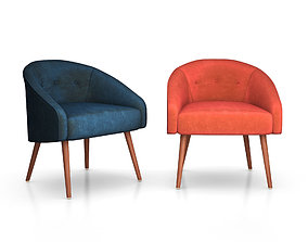 3D Eve Buttoned Chair by West Elm buttoned
