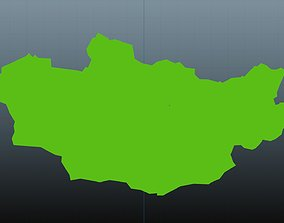 3D asset Mongolia map symbol
