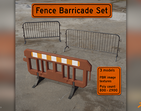 3D model Fence Barricade Pack