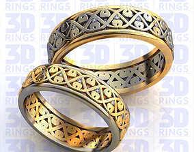 Wedding rings 563 3D model