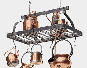 3D model Enclume Grande Cuisine Rectangular Ceiling Pot
