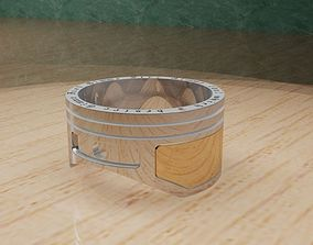 3D printable model ring piston