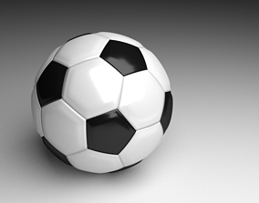Black and White Ball 3D model