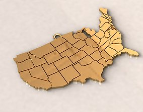 3D print model USA United States of America Map Charm