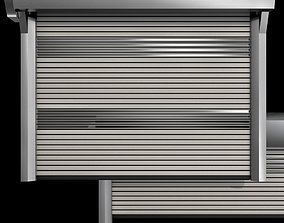 Metal industrial high speed door with horizontal 3D
