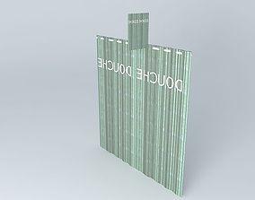 3D model Translucent shower curtain