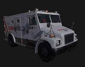 Armored Bank Truck 3D model