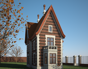 Old House with Interior 3D model lodging