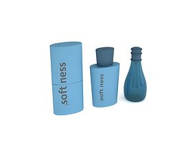 3D model Three Beauty Item In Blue Containers