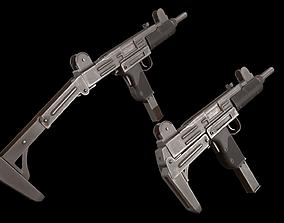 UZI Submachine Gun 3D model realtime