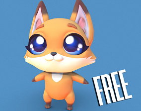 3D model PBR Fox Character
