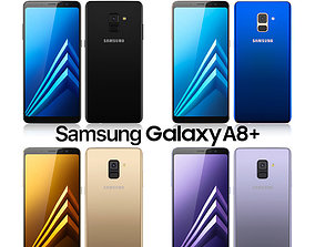 Samsung Galaxy A8 PLUS All colors 3D model