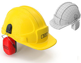 Safety Helmet with Ears Cover 3D