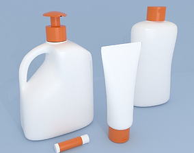 Bottles and Cream Dispensers 3D