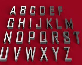AGENCY font uppercase 3D letters STL file 3dmodel