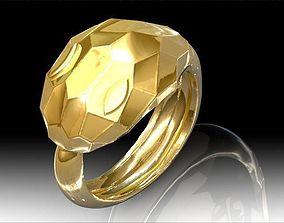 3D print model Faceted Snake Ring